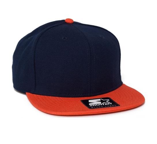 5e0659c4 Starter Snapback Cap (Navy/Orange) - Consortium.