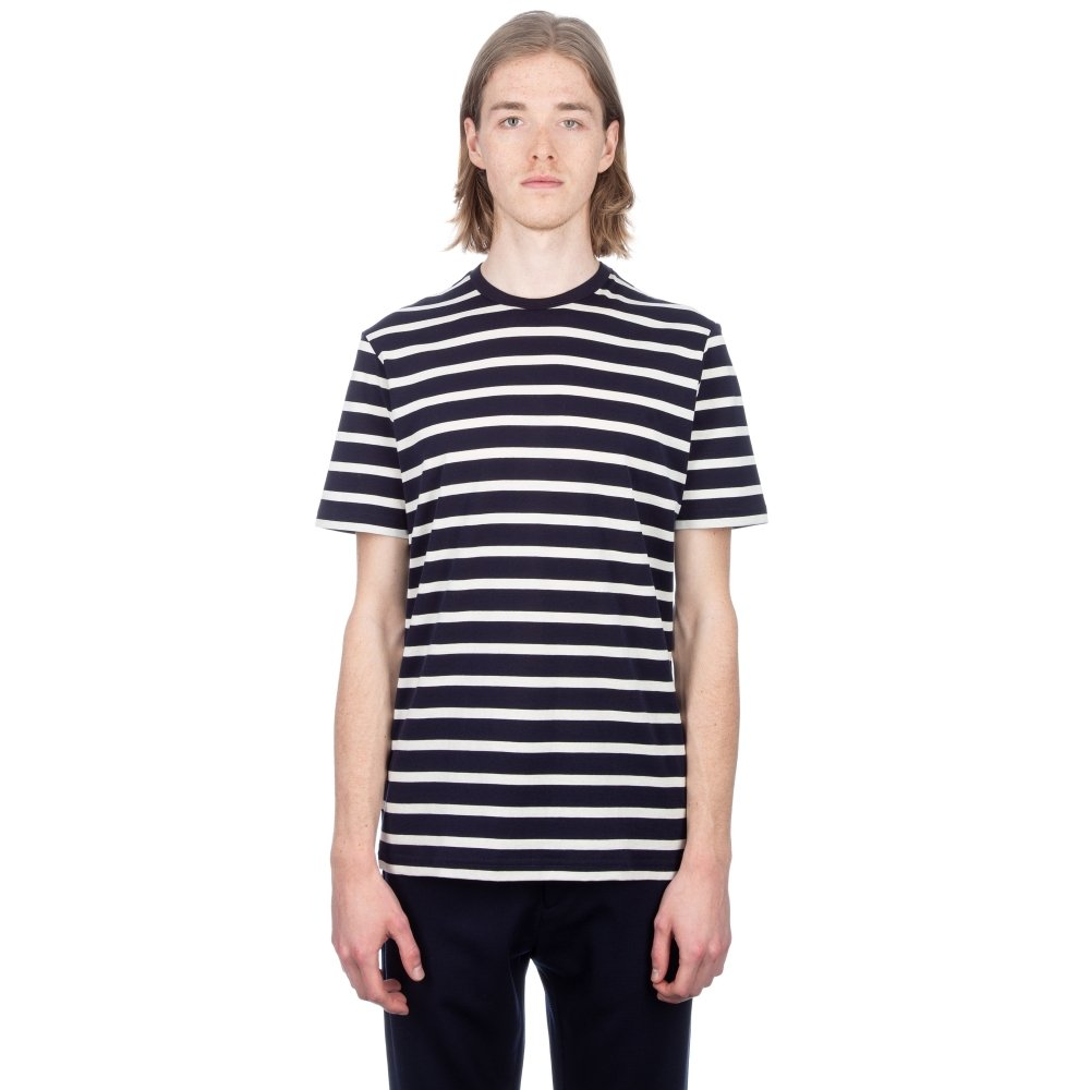 Sunspel Classic Cotton Breton Stripe T-Shirt (Navy/Ecru)