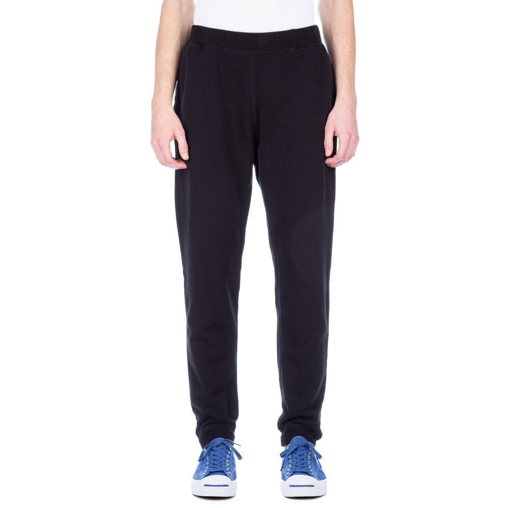 Sunspel Cotton Loopback Track Pant (Black)