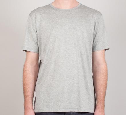 Sunspel Crew Neck T-Shirt (Grey)
