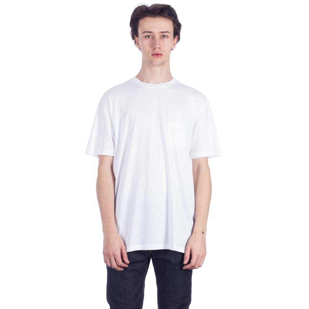 Sunspel Relaxed Fit Pocket T-Shirt (White)