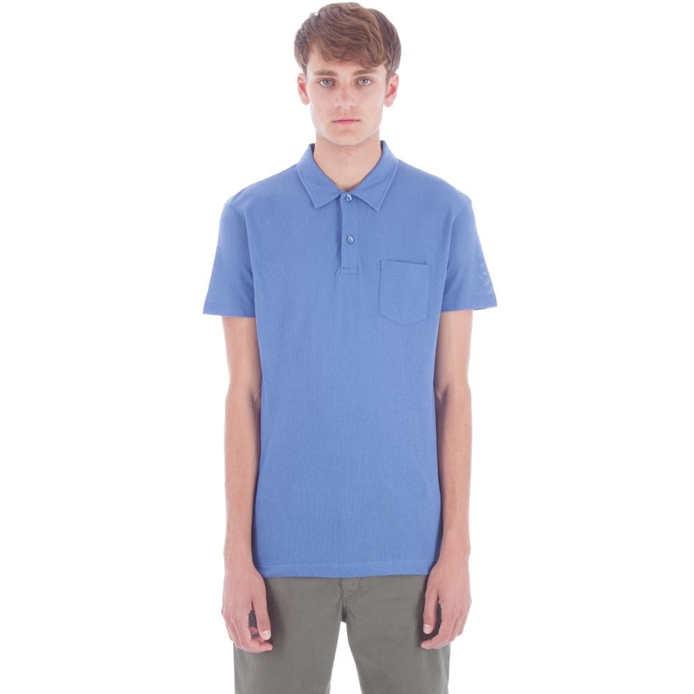 Sunspel Riviera Polo Shirt (Denim Blue)