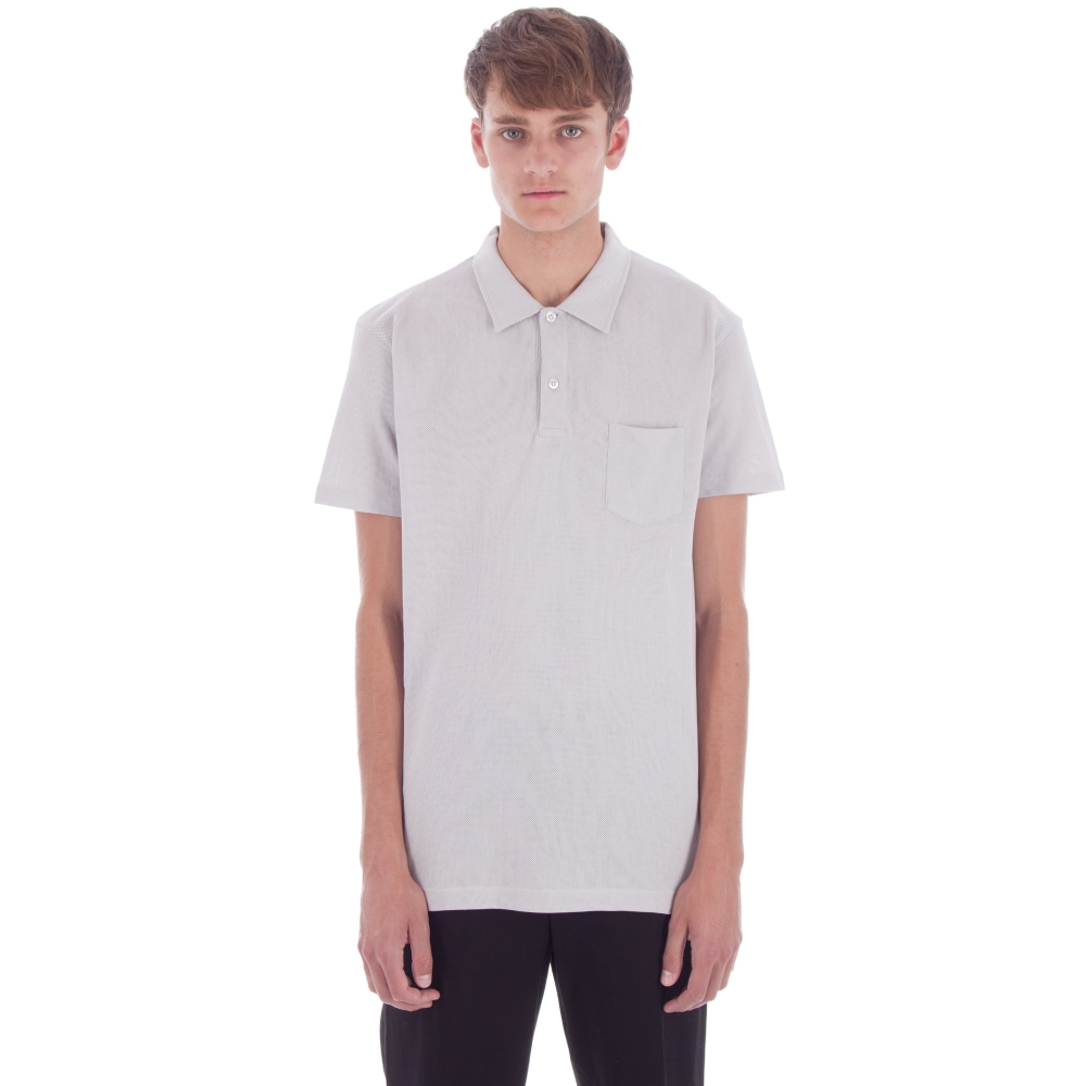 Sunspel Riviera Polo Shirt (Pebble Grey)