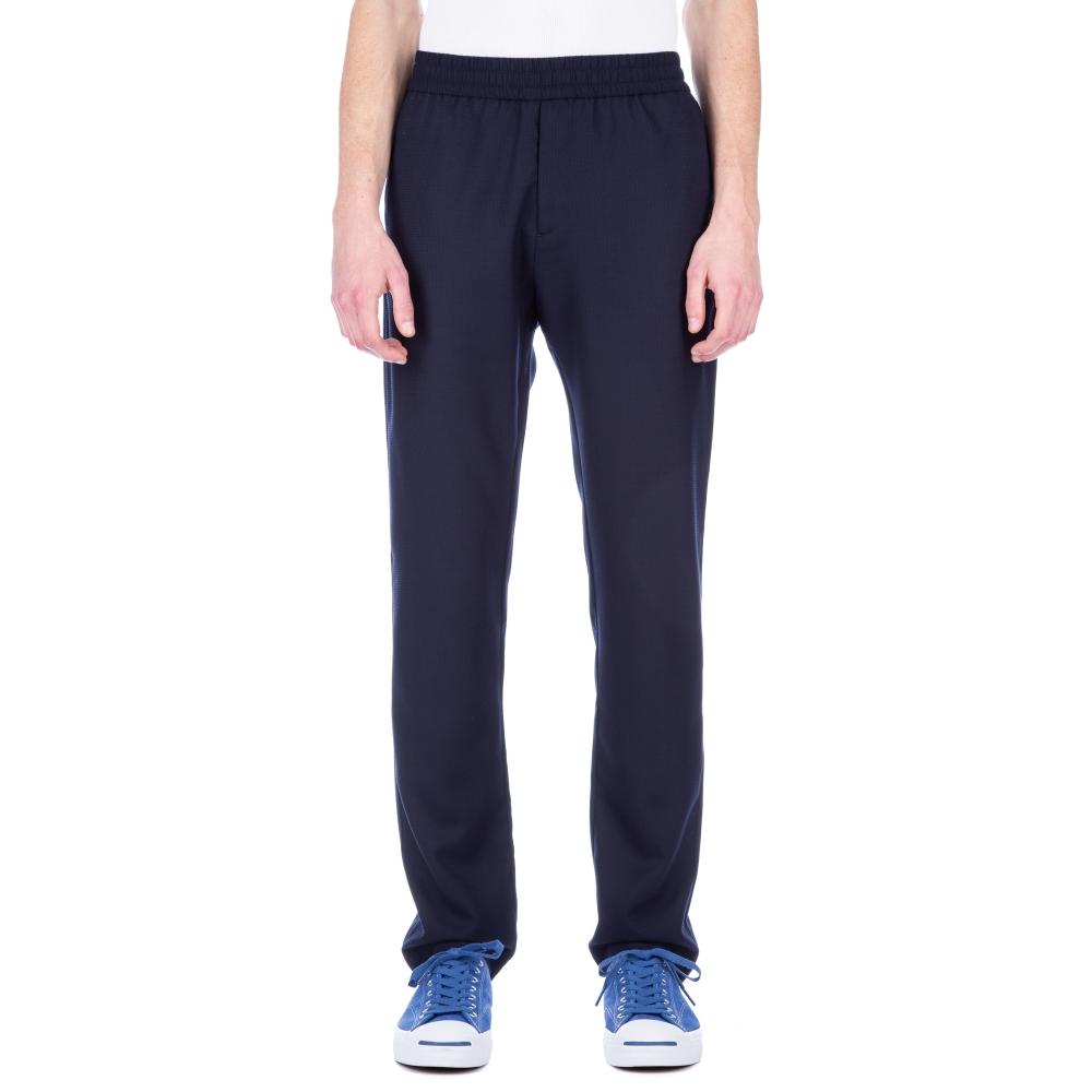 Sunspel Tropical Wool Drawstring Trouser (Navy)