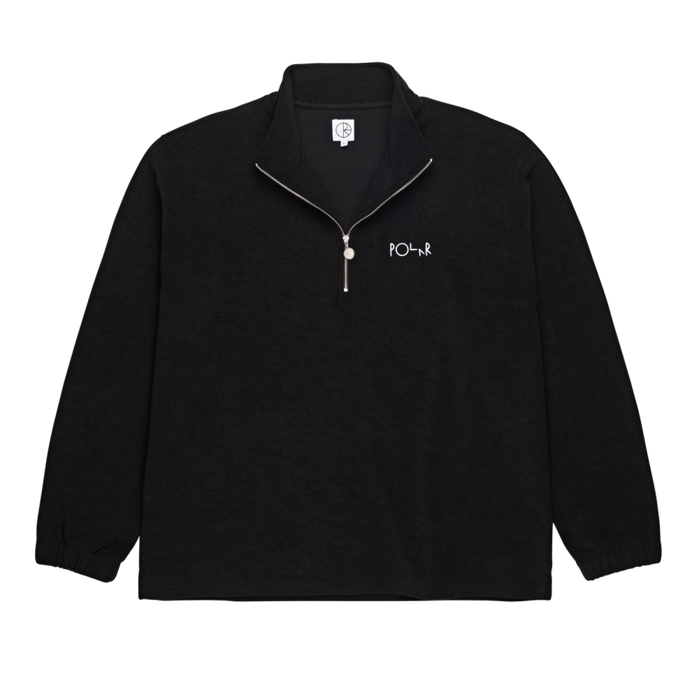 Polar Skate Co. Terry Zip Mockneck (Black)