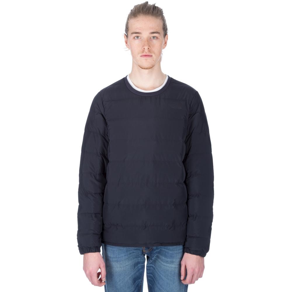 The North Face Red Label Micro Down Crew Neck Sweatshirt (Dark Navy Blue)