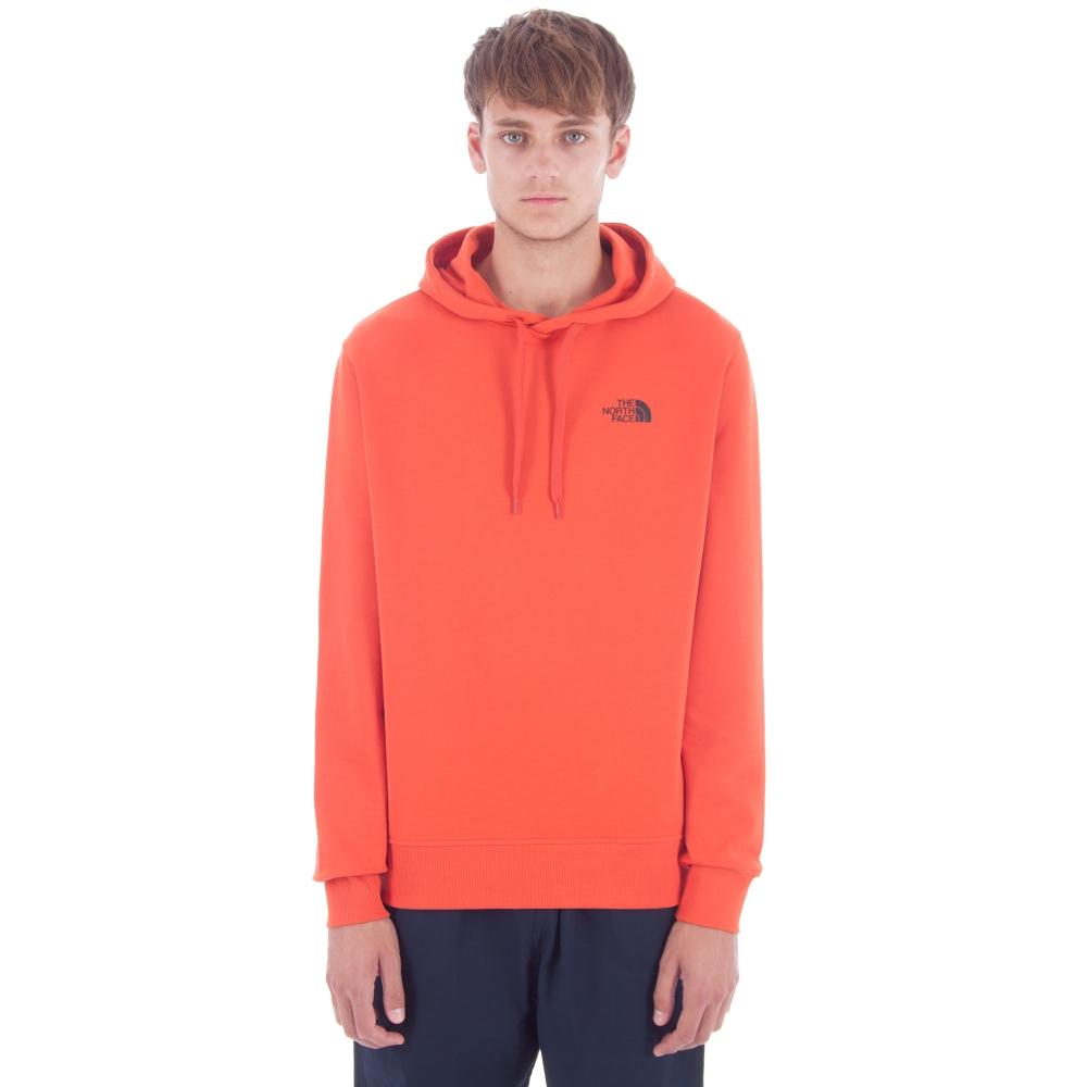 The North Face Seasonal Drew Peak Pullover Hooded Sweatshirt (Tibetan Orange)