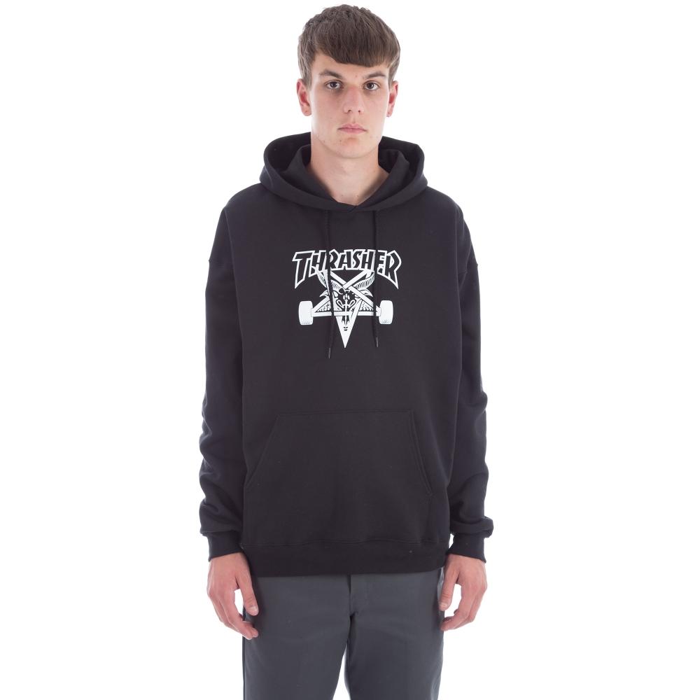 Thrasher Skategoat Pullover Hooded Sweatshirt (Black)