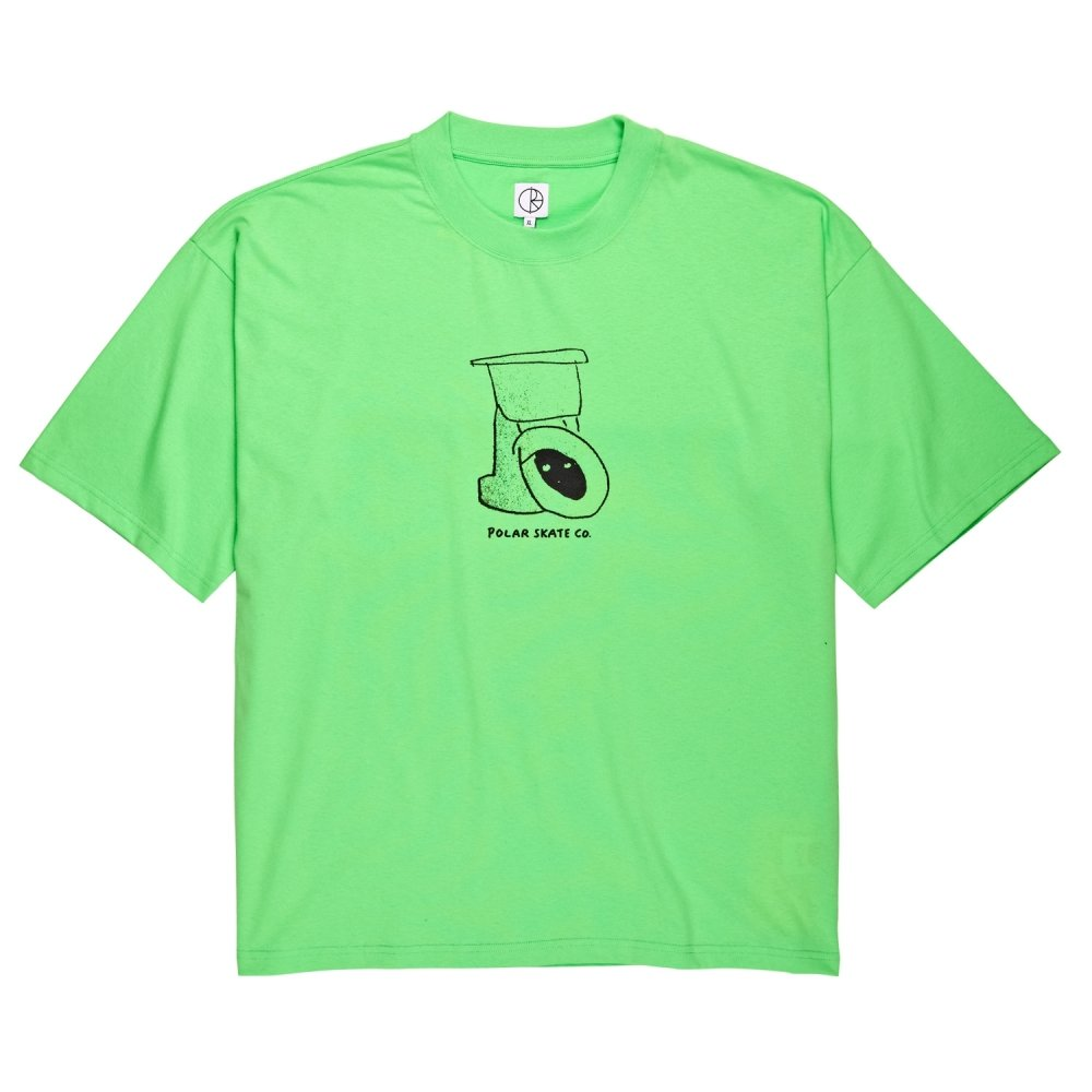Polar Skate Co. Toilet Surf T-Shirt (Gecko Green)