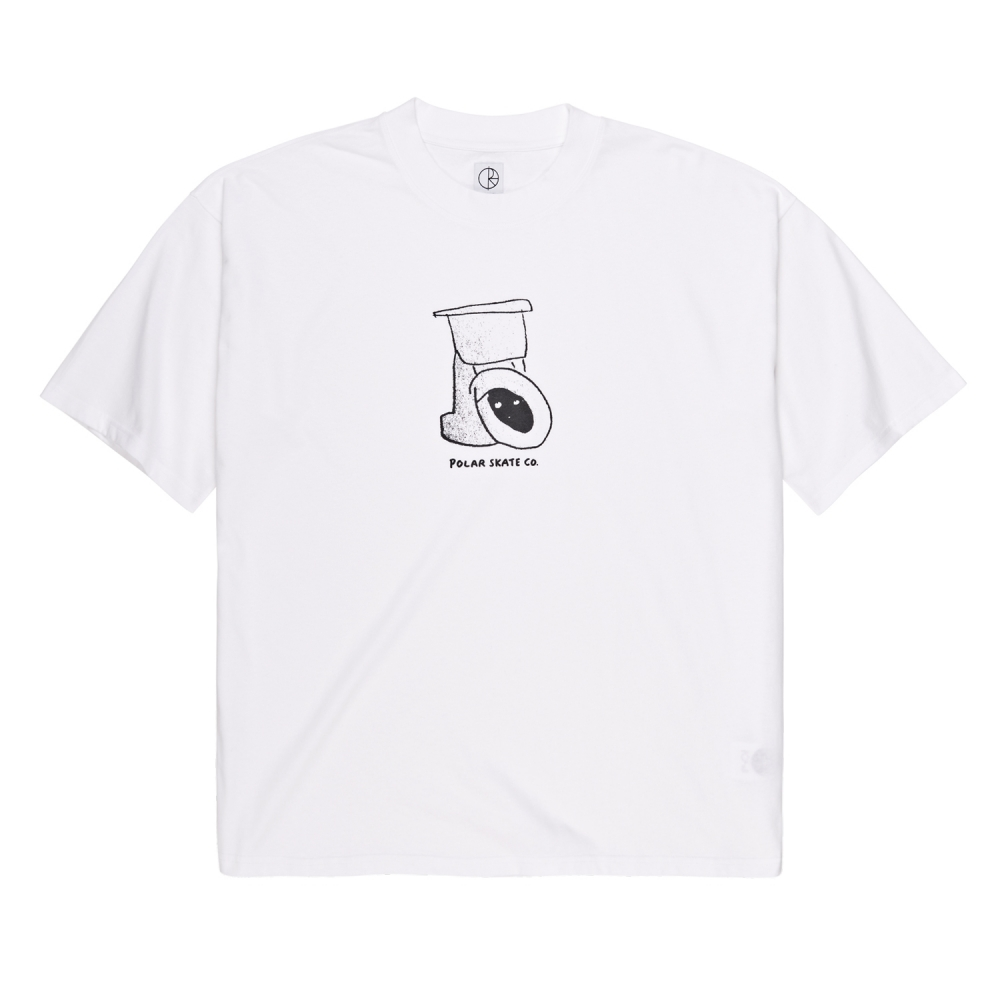 Polar Skate Co. Toilet Surf T-Shirt (White)