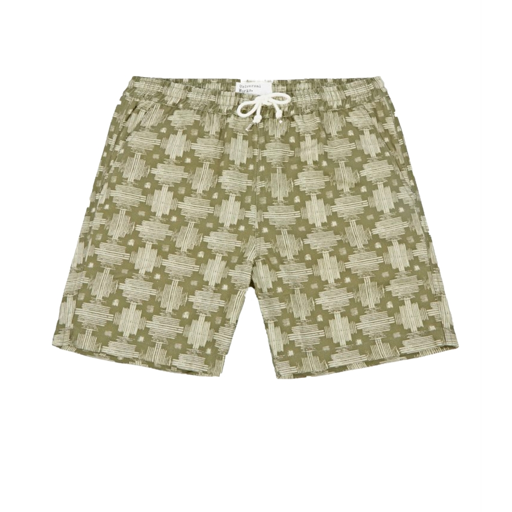 Universal Works Print Canvas Beach Short (Aztec)