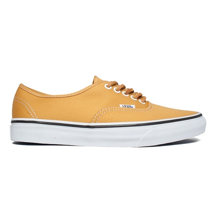 Vans Authentic Bushed Twill (Mineral Yellow/True White)