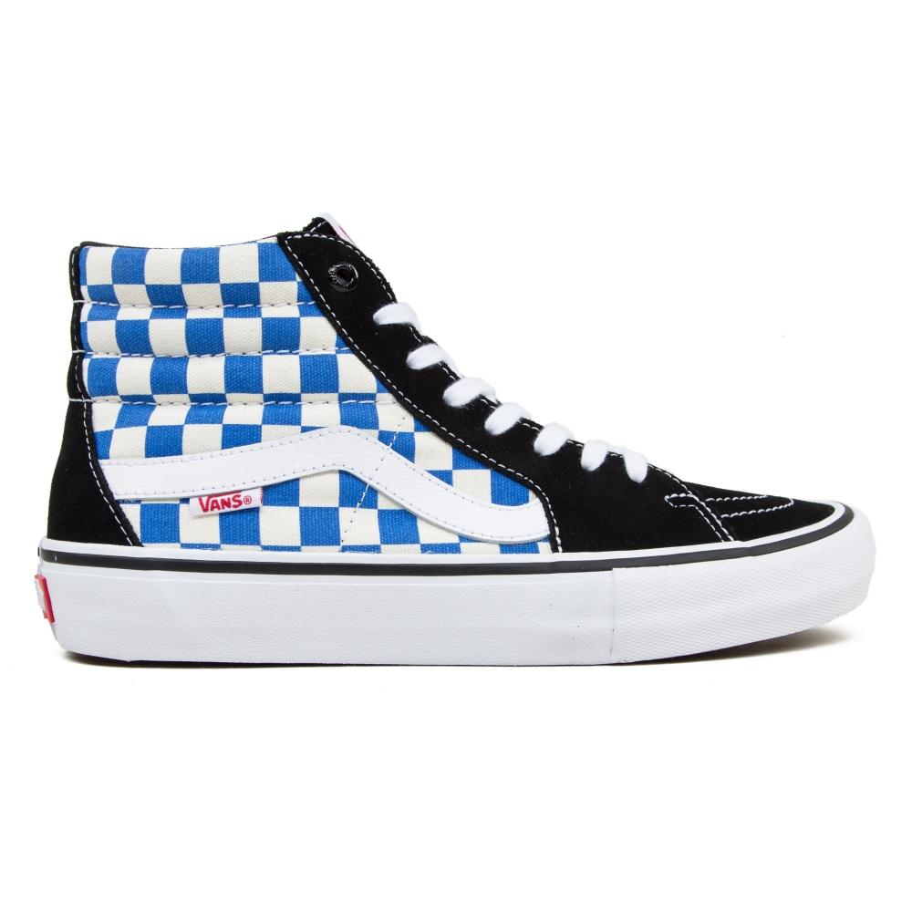 Vans Checkerboard Sk8-Hi Pro (Black/Victoria Blue)