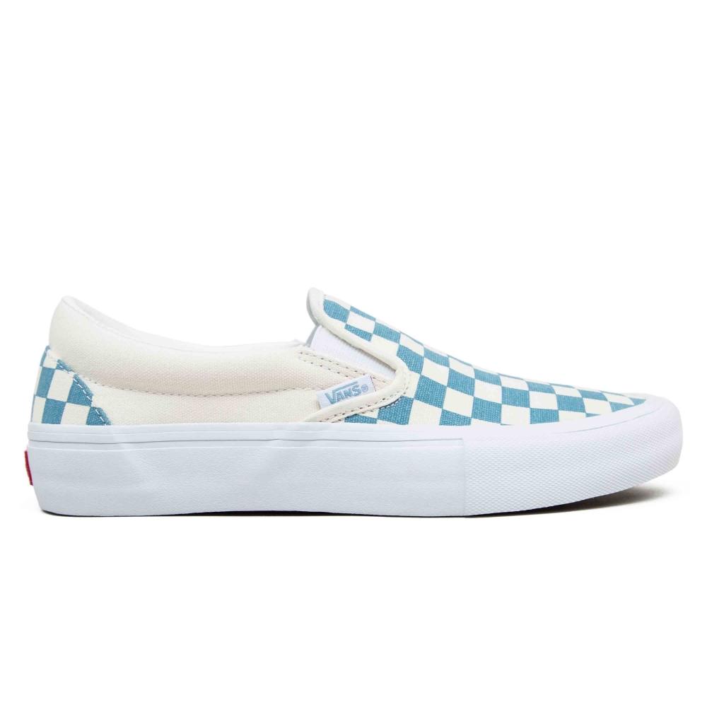 Vans Checkerboard Slip-On Pro (Adriatic Blue/White)