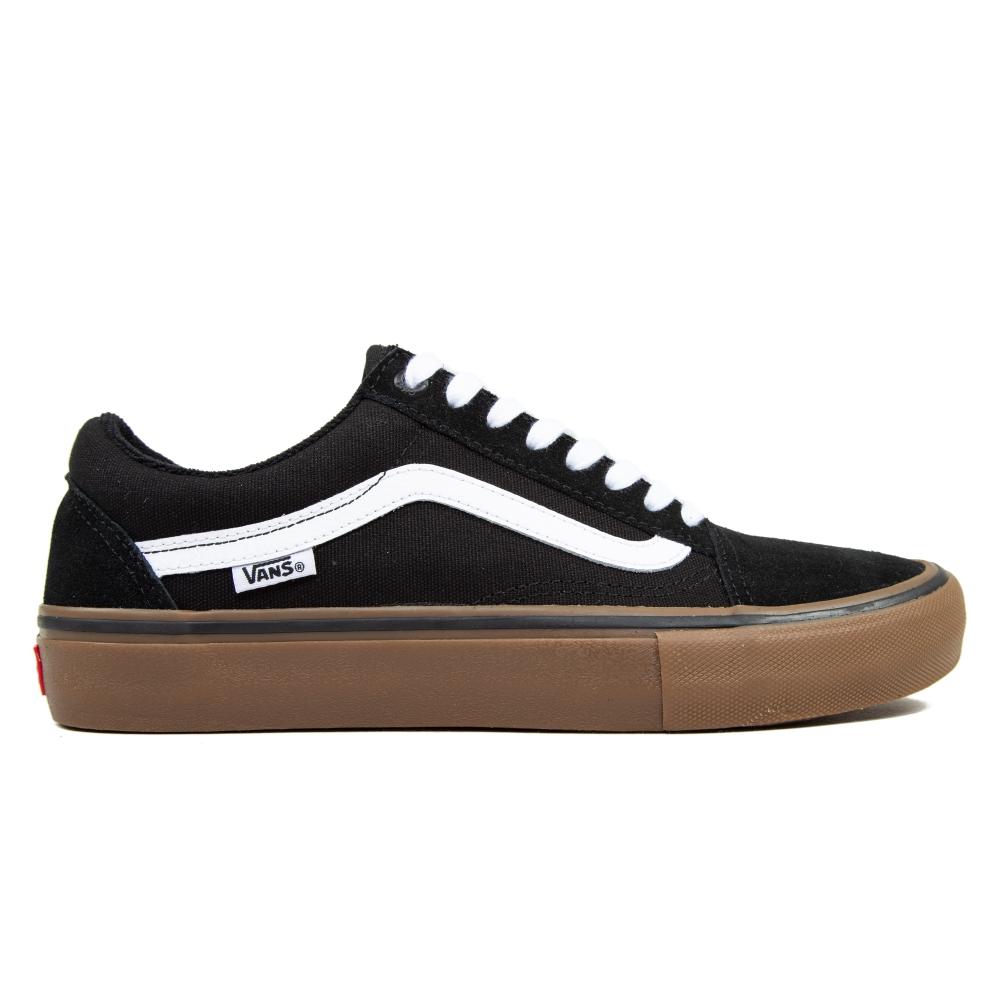 Vans Old Skool Pro (Black/White/Gum)
