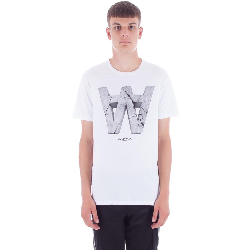 Wood Wood AA Crack T-Shirt (White)