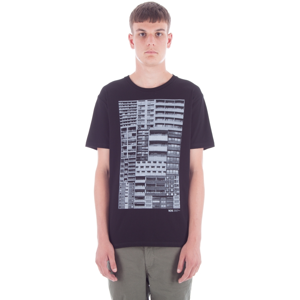 Wood Wood Building T-Shirt (Black)