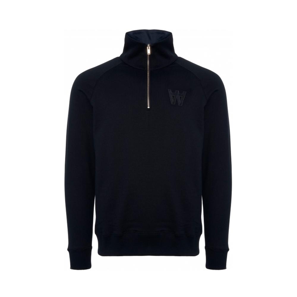 Wood Wood Curtis Quarter Zip Sweatshirt (Navy)