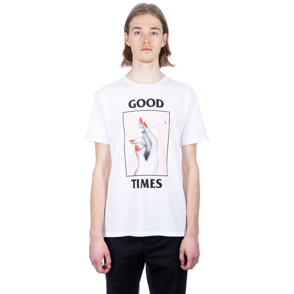 Wood Wood Good Times T-Shirt (Bright White)