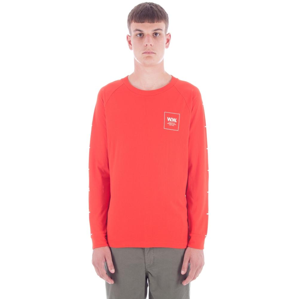 Wood Wood Han Long Sleeve T-Shirt (Burnt Red)