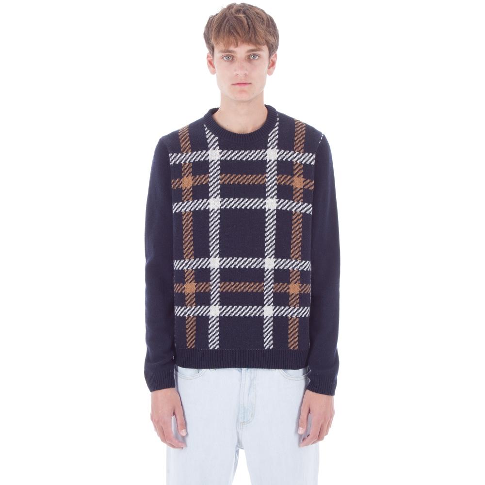 Wood Wood Latimer Sweater (Navy Check)