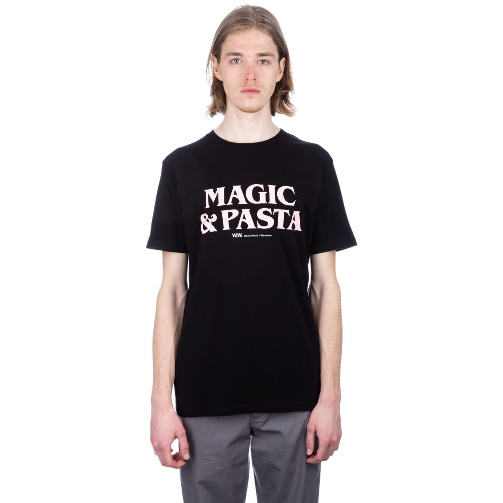 Wood Wood Magic & Pasta T-Shirt (Black)