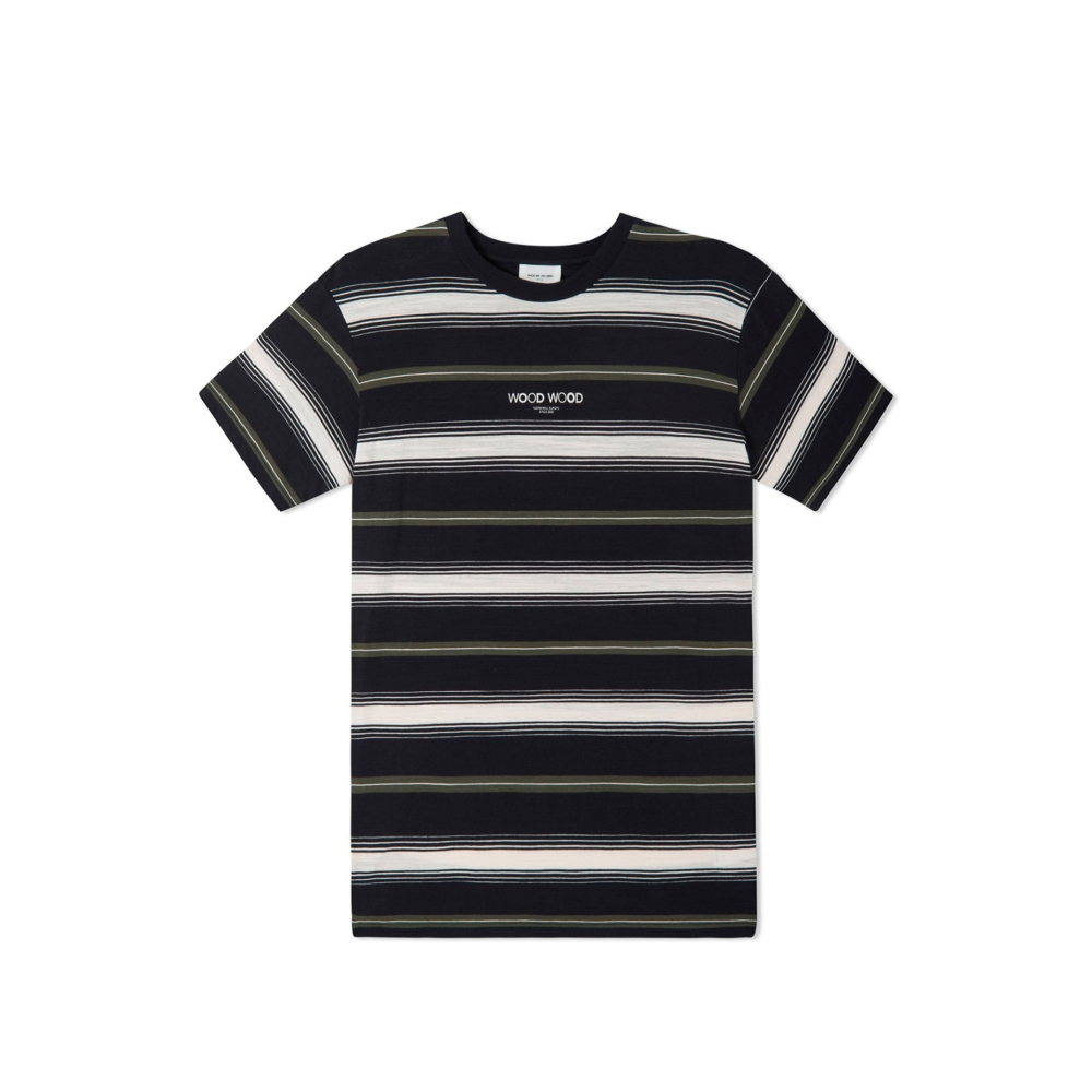 Wood Wood Perry T-Shirt (Navy Stripe)