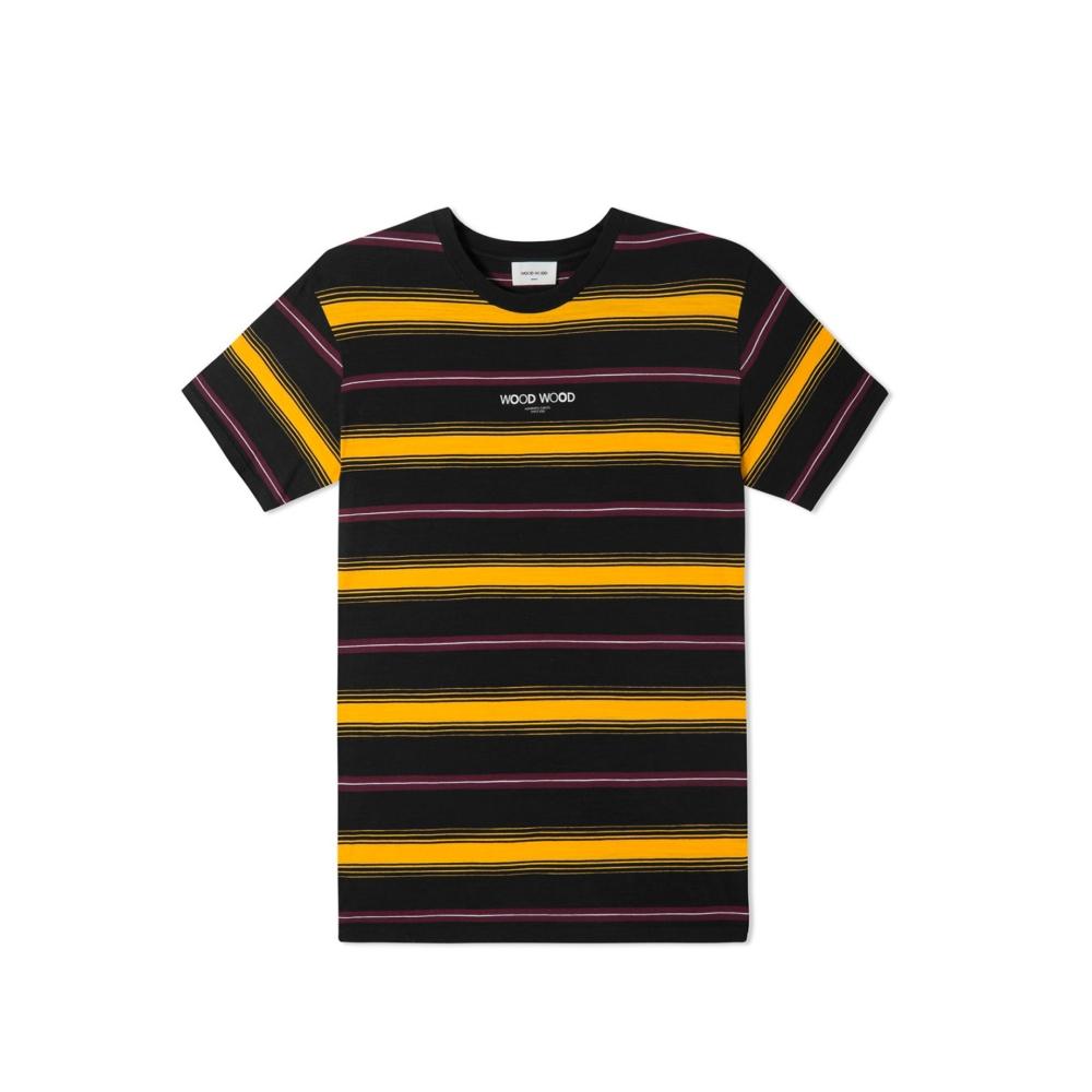 Wood Wood Perry T-Shirt (Yellow Stripe)
