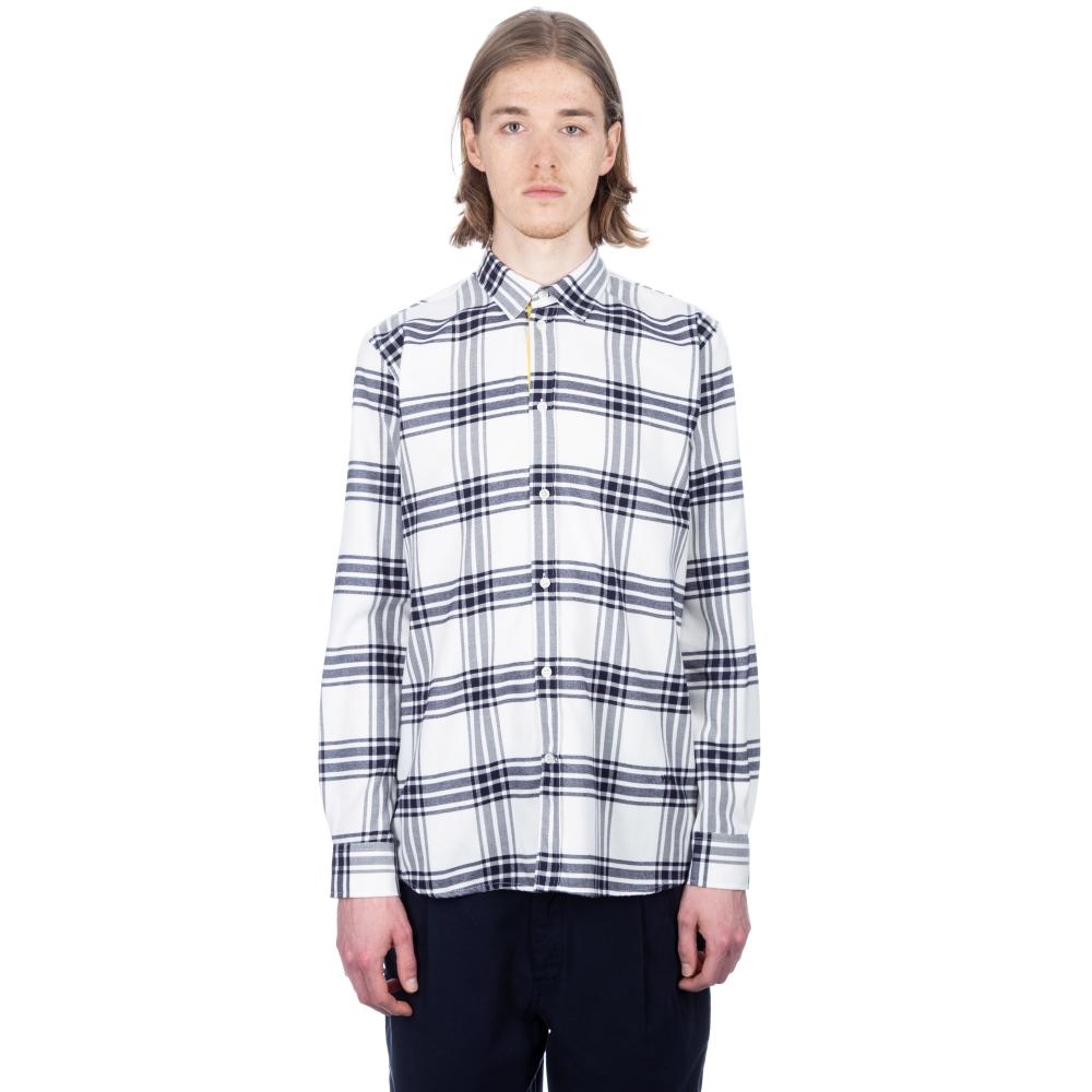 Wood Wood Piero Shirt (Navy/Off-White Check)