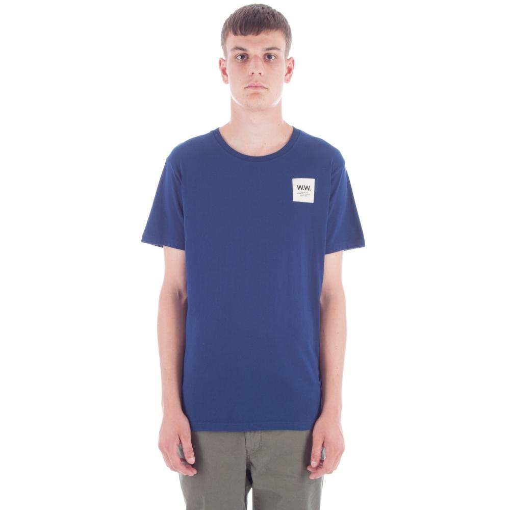 Wood Wood Slater T-Shirt (Estate Blue)