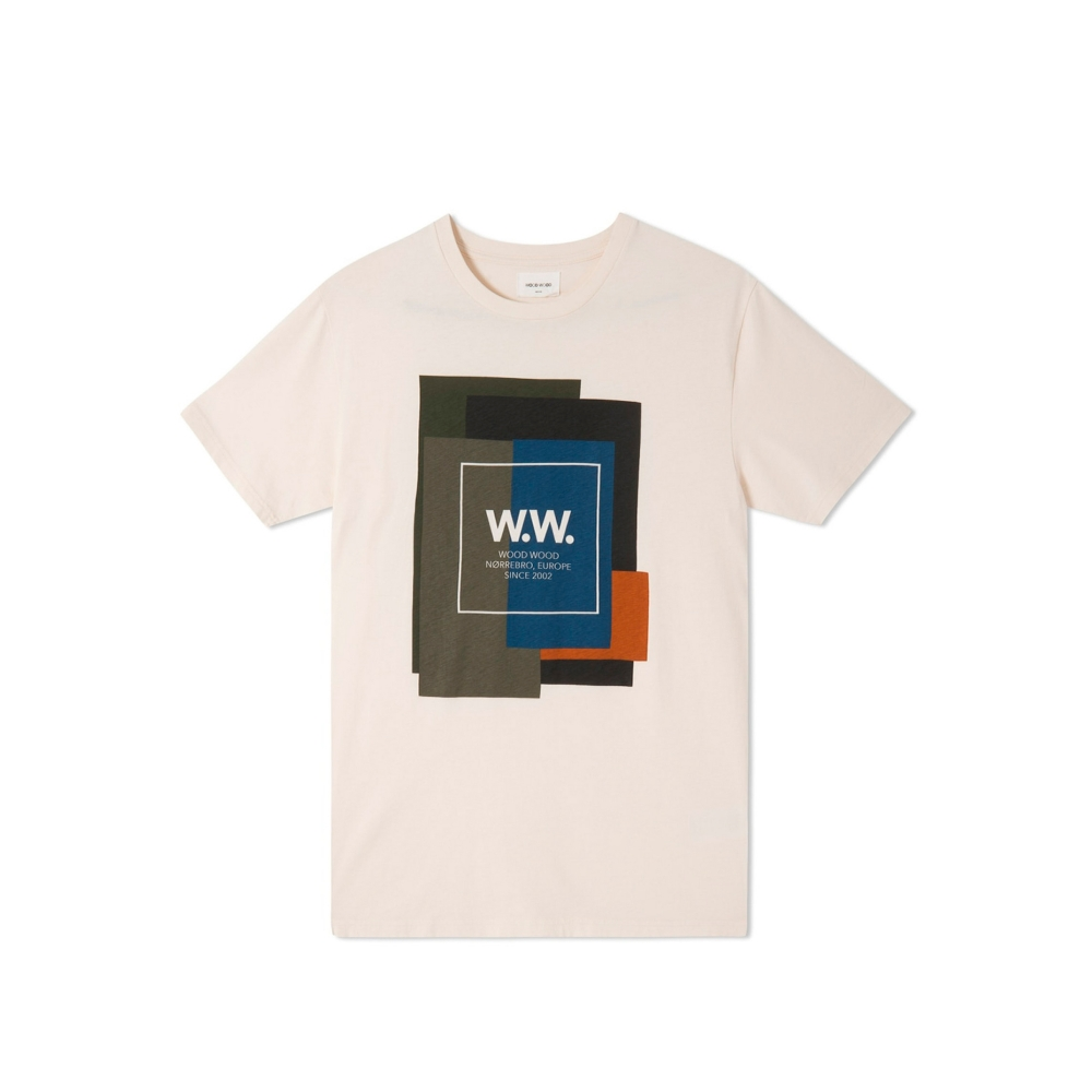 Wood Wood WW Quilt T-Shirt (Off White)