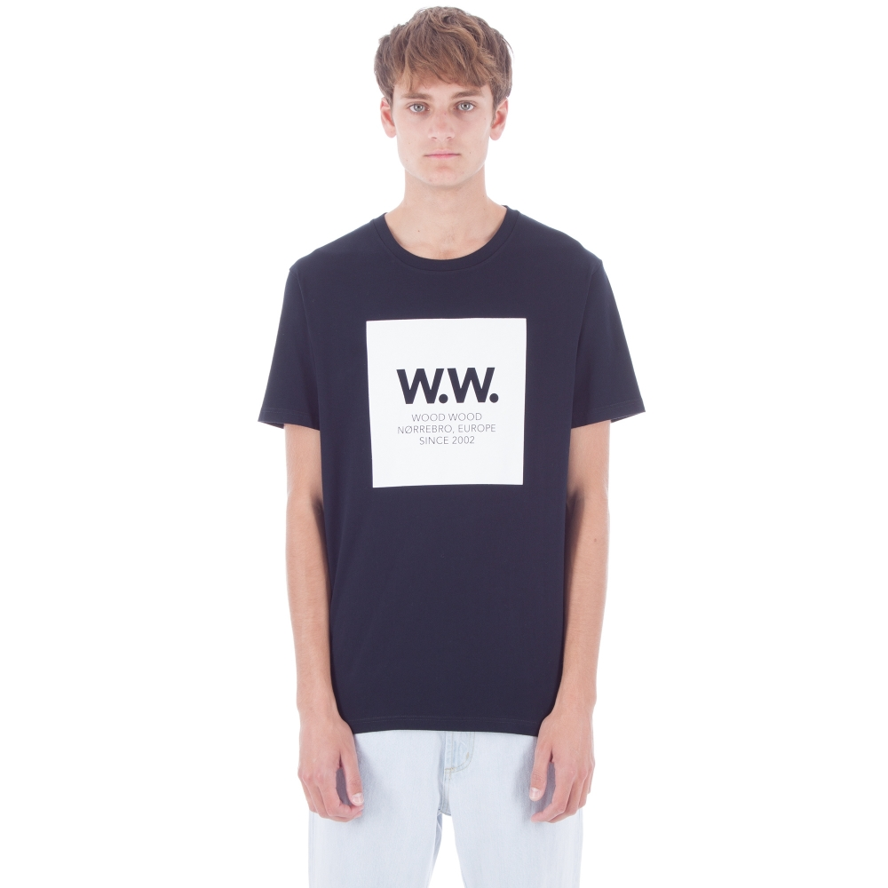 Wood Wood WW Square T-Shirt (Navy)