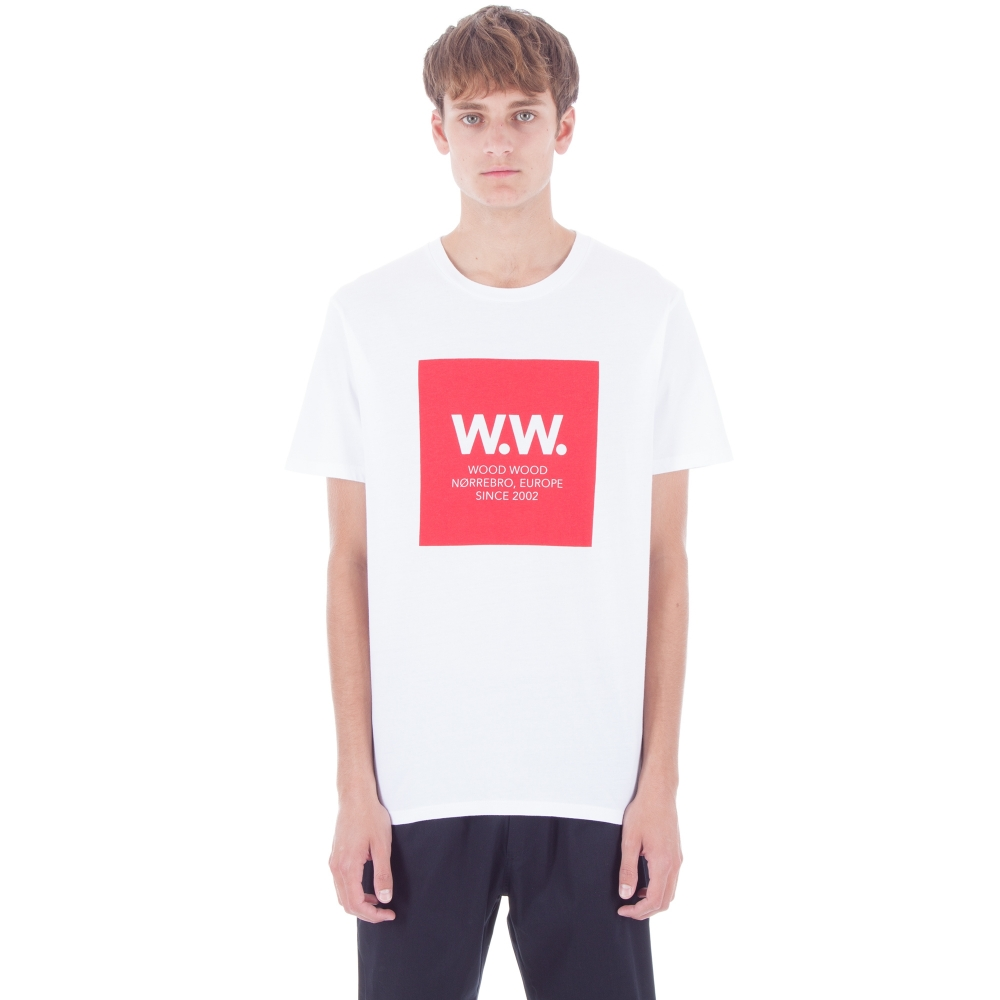 Wood Wood WW Square T-Shirt (White)