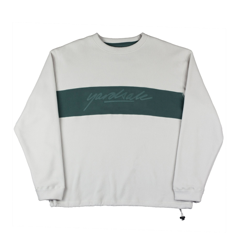 Yardsale Embossed Crew Neck Fleece (Beige/Fern)