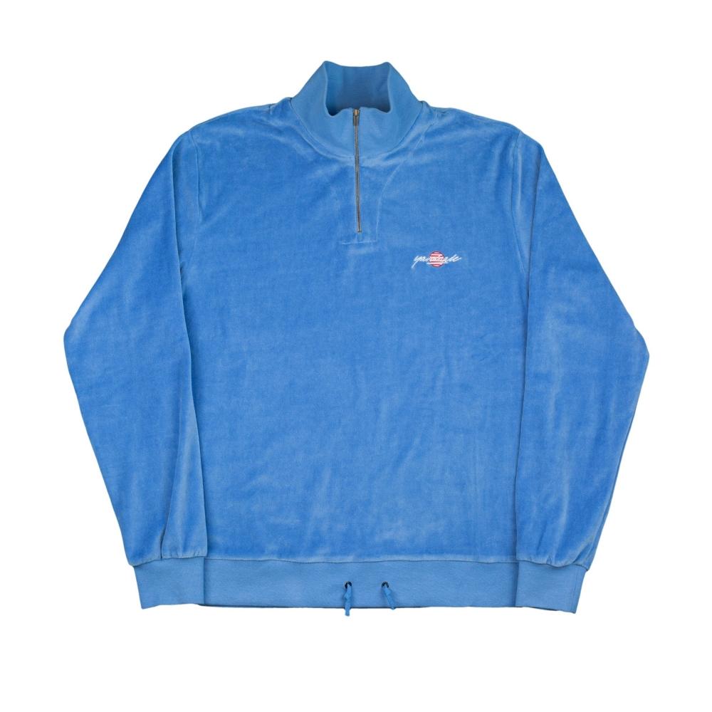 Yardsale Miami Velour Quarter Zip Sweatshirt (Crystal)