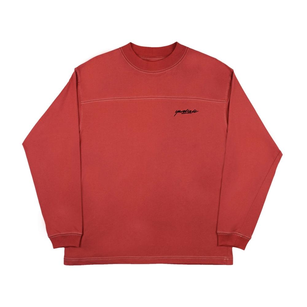 Yardsale Polo Long Sleeve T-Shirt (Crimson)