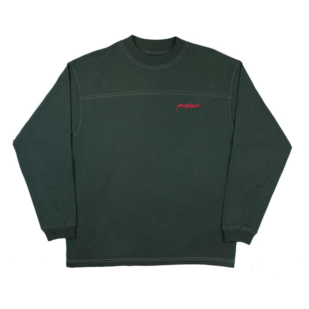 Yardsale Polo Long Sleeve T-Shirt (Dark Olive)