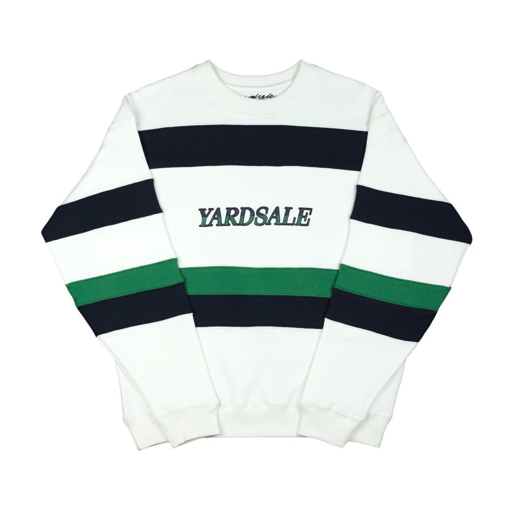 Yardsale Valentine Crew Neck Sweatshirt (White/Navy/Green)