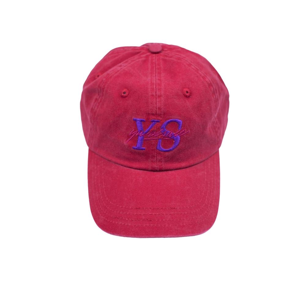 Yardsale YS Script Cap (Mulberry Red)