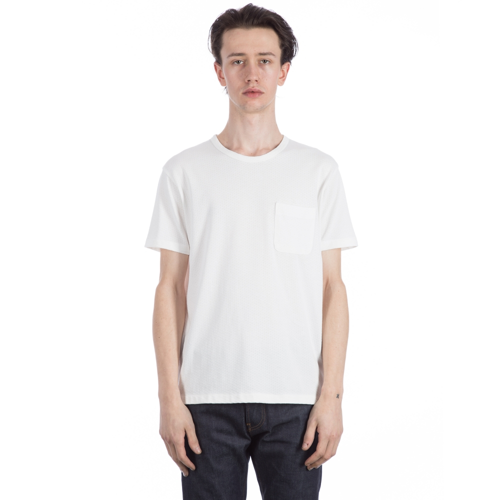 YMC Perforated Pocket T-Shirt (White)