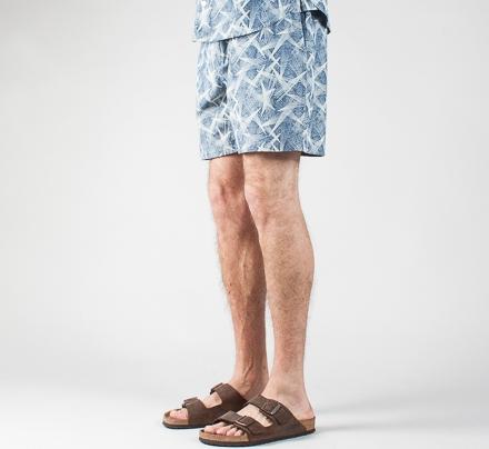 YMC Star Print Shorts (Chambray)