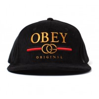 dbefe9f7099 Obey High Post snapback cap (Black) - buy Obey snapback caps online at  Consortium.