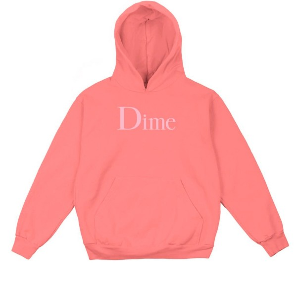 Dime Classic Logo Pullover Hooded Sweatshirt (Salmon)