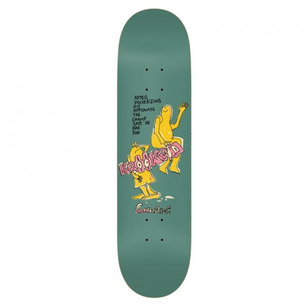 "Krooked Gonzales The Champ Pro Skateboard Deck 8.62"" (Multi)"
