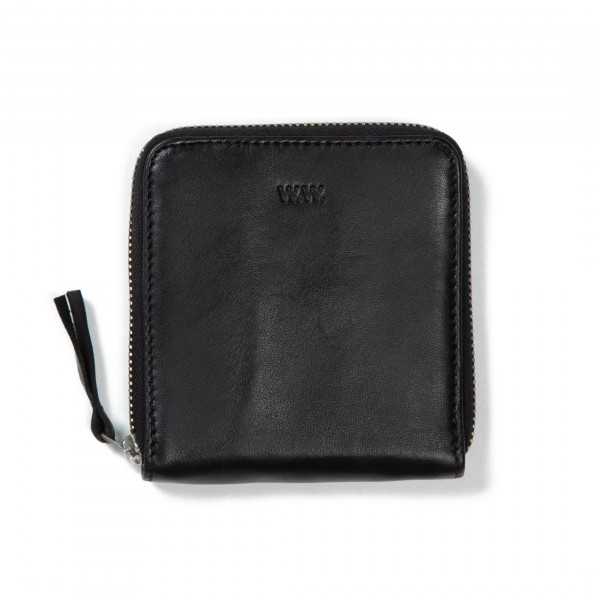 Wood Wood Square Wallet (Black Leather)
