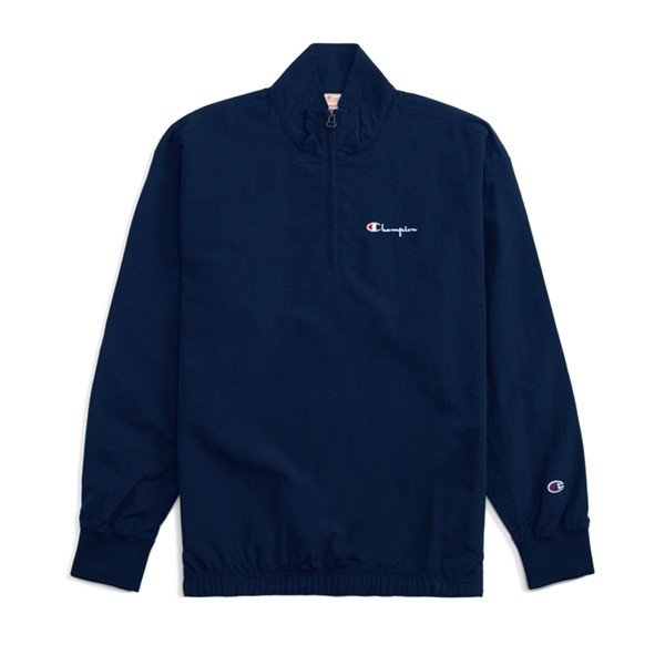 Champion Reverse Weave Half Zip-Up High Neck Track Jacket (Navy)
