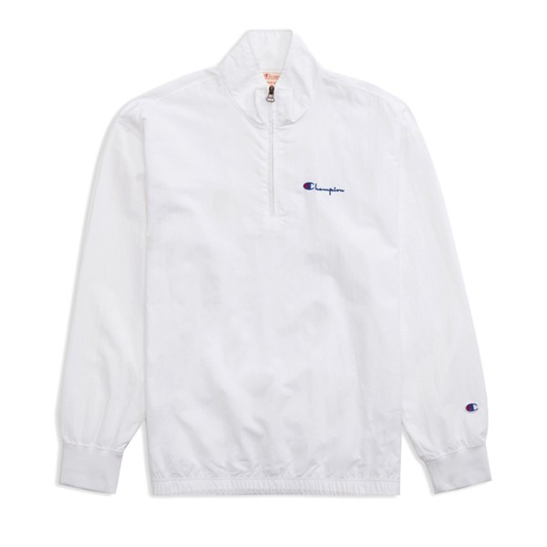 Champion Reverse Weave Half Zip Jacket (White)