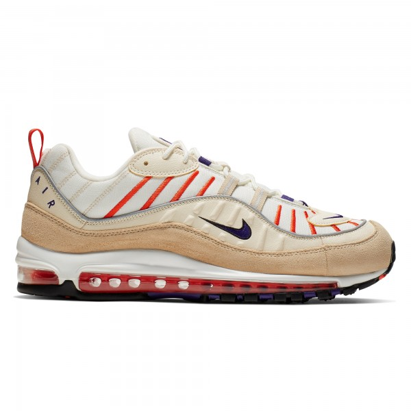 Nike Air Max 98 (Sail/Court Purple-Light Cream-Desert Ore)