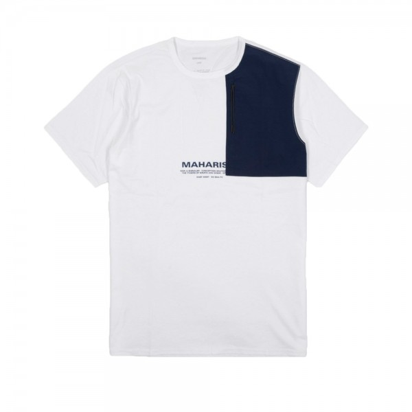 Maharishi Tech Travel T-Shirt (White/Indigo)