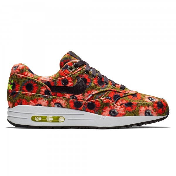 Nike Air Max 1 Premium SE 'ACG Floral Mowabb' (Black/Black-Flash Crimson-Faded Spruce)